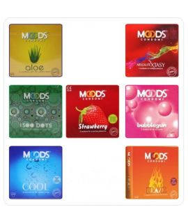 Moods Rainbow Pleasures combo (21 pack of 3s)