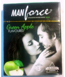 MANFORCE GREEN APPLE PACK OF 3