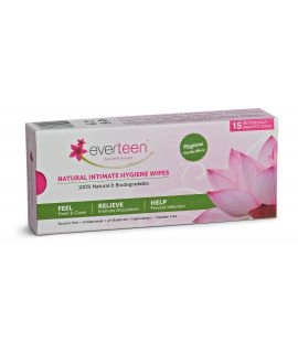 Everteen Natural Intimate Hygiene Wipes - 15 Pcs