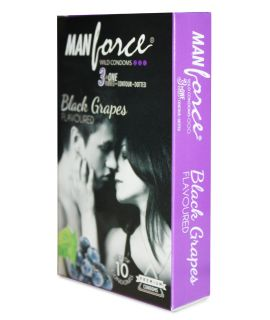 Manforce Black Grapes Flavoured Condoms - Pack of 10