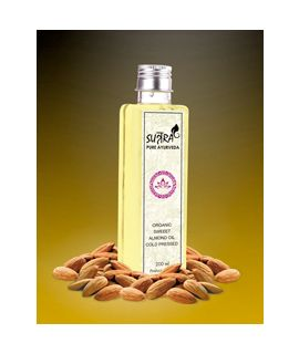 Organic Sweet Almond oil Cold Pressed - 200 ML
